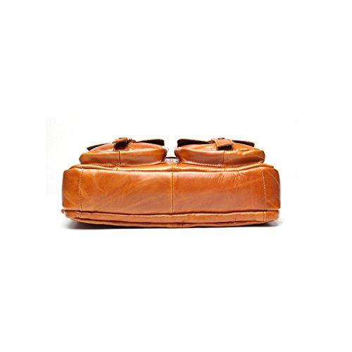 Marwar , Herren Schultertasche KMWB207-chocolate KMWB207-light brown