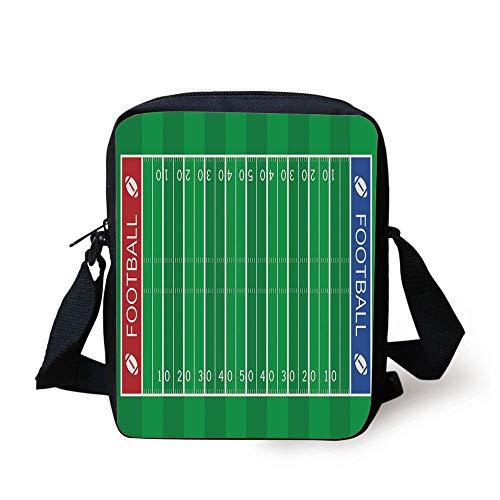 afa05e99cbe4 Football,American Football Field Playground Stripes and Numbers League  Scramble Score Decorative,Blue Red