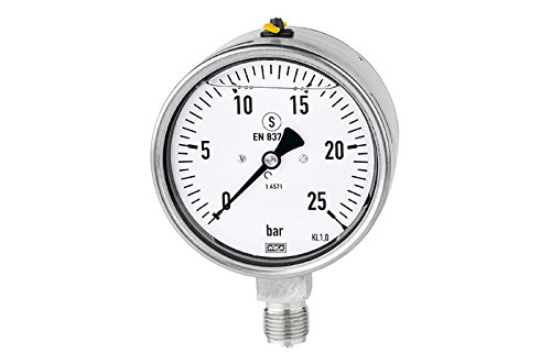 4in 16 Gauge (Glyzerinmanometer RI-4914 63mm 0-16 bar, G1/4