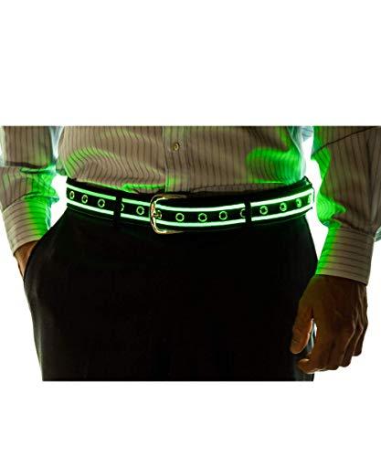 NEON NIGHTLIFE Männer leuchten LED-Gürtel, Medium, 29-36 Zoll Taille Größe, Grün (Grüne Halloween Getränk)