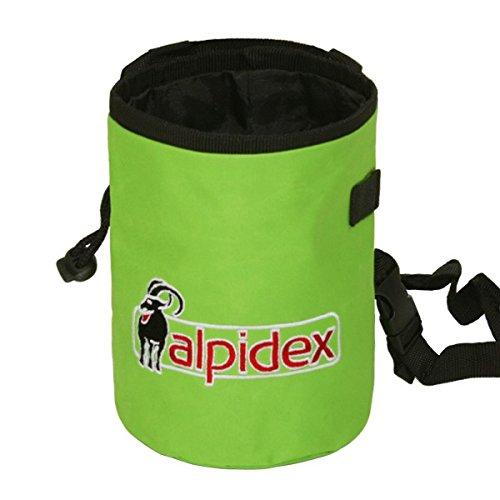 Sacchetto porta magnesite con inclusa la cintura Highfly di Alpidex, Farbe Alpidex:Green Flash
