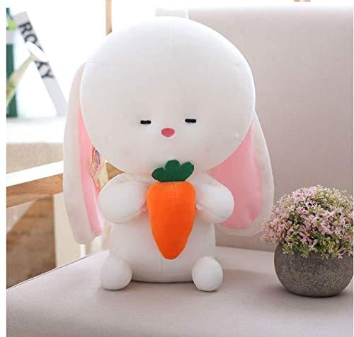 RKZM Weiche Kaninchen Umarmung Karotte Spielzeug Gefüllte Entzückende Kaninchen Puppe Für Baby Schlafsofa Babypuppe Geburtstagsgeschenk Für Kinder 25 (Karotte Kostüm Hunde)