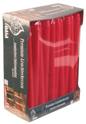 50x 25cm Rot Bistro parfumfrei Speisen Tisch Kerzen 8–9Stunden Brenndauer Hohe Qualität für - Uk Halloween-geschenk-korb,