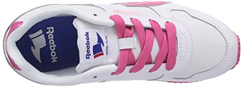 Reebok Royal Classic Jogger, Sneakers Basses Mixte Enfant Blanc (white/candy Pink/polished Pink)