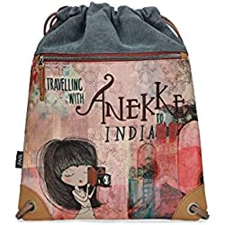 Anekke Mochila saco estampado India