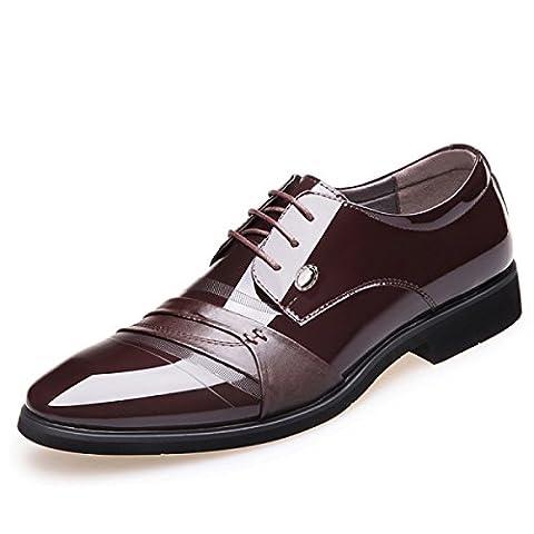Herren Leder Smart Loafer Kleid Schuhe Party Hochzeit Gelegenheit Schuhe,Brown-38