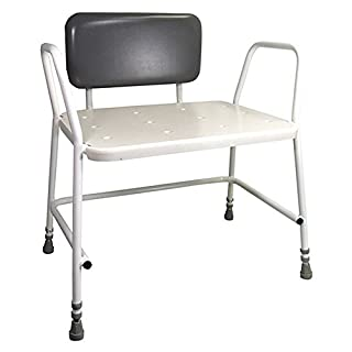 Aidapt Portland Bariatric Padded Back Shower Stool (Eligible for VAT relief in the UK)