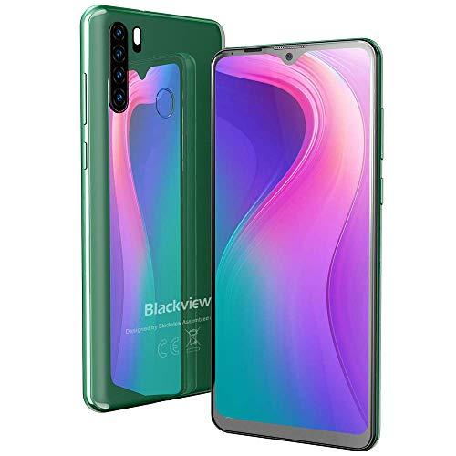 Blackview A80 Pro 2020 Smartphone Débloqué 4G - Ecran 6,49 Pouces 4Go + 64Go Telephone Portable Dual Nano SIM 4680 mAh Quad Caméra 256Go SD Android 9.0 - Vert