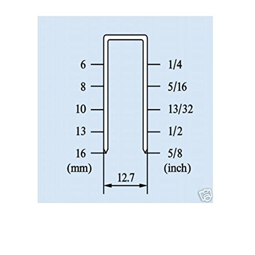 Air Comprimé Agrafeuse pince dos 12,7mm