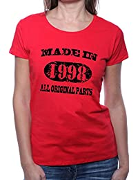 Mister Merchandise Femme Chemise T-Shirt Made in 1998 All Original Parts Years Jahre Geburtstag
