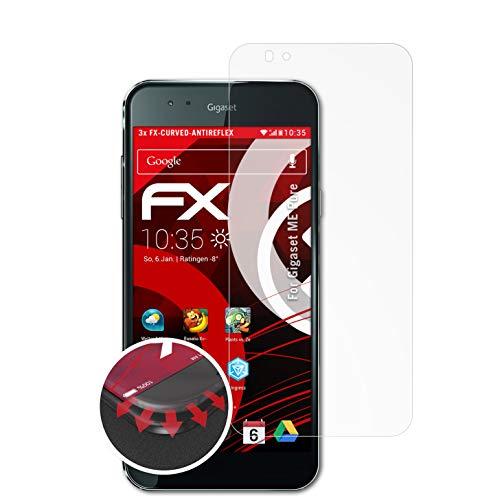 atFolix Schutzfolie passend für Gigaset ME Pure Folie, entspiegelnde & Flexible FX Bildschirmschutzfolie (3X)