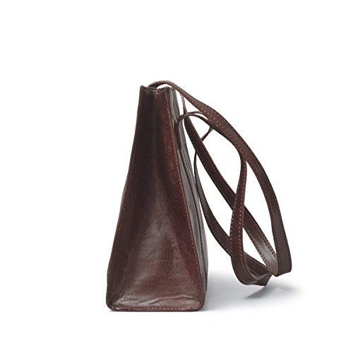 Maxwell Scott Bags, Borsa a spalla donna Marrone Cioccolato fondente XLarge Cioccolato fondente