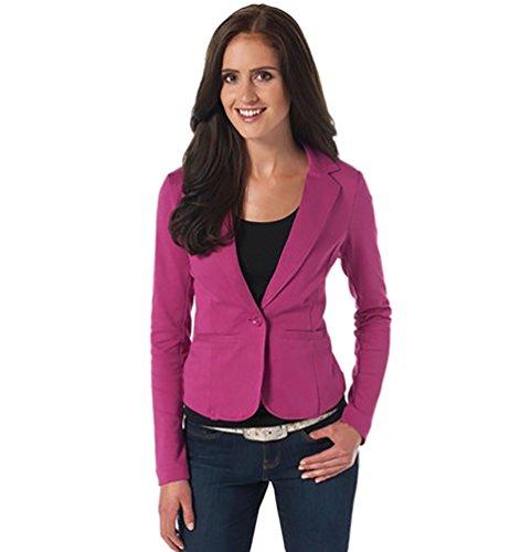 YouPue Femme Blazer Vestes de tailleur Slim Fit Manches Longues Veste Blazer Avec Bouton Jacket Manche Coat Se leva
