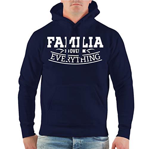 Männer und Herren Kapuzenpullover Familia Over Everything (mit Rückendruck) Größe S - 8XL