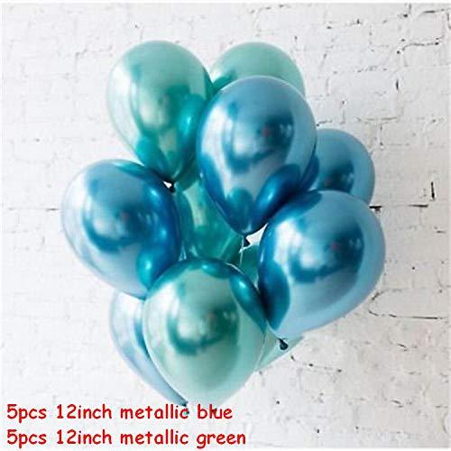 Gold Latexballons, Gold und schwarze Latex-Ballon Marmor Metallic-Ballon Chrome Ballone Hochzeit Erwachsene Geburtstags-Party-Fotografie Props Dekor, 5