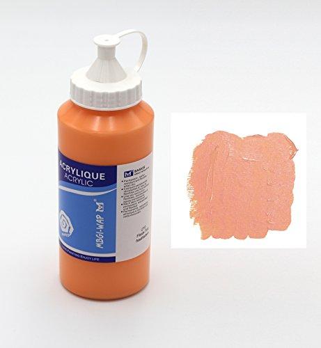 Magi® Künstler-Acrylfarbe je 500 ml, in 24 feinen Farbtönen, freie Farbwahl, Acryl, Malfarbe im Dosiergebinde (06-hautfarben)