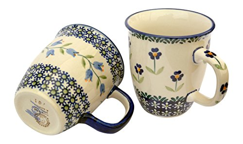hand-decorated-polish-pottery-manu-faktura-set-k-081asdx-assx-cup-pack-of-2mars-90cm-cobalt-blue-2un
