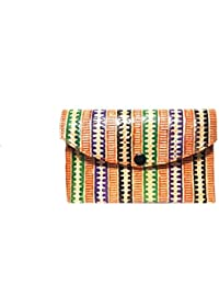 Sikha Handicrafts Women's Goat Leather Wallet Small Multi-Coloured - B0785DPLMM