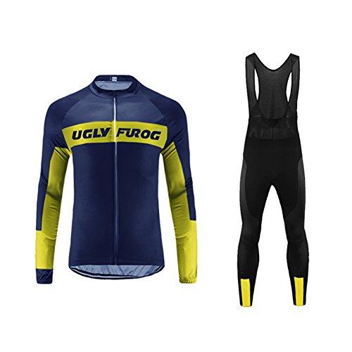 Uglyfrog Ropa Ciclismo Maillot Mangas largas Camiseta+La