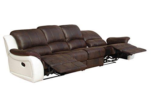 Relax Schlafsofa Couch Polstermöbel Relaxsessel Fernseh Sessel 5129-4-PU (Pu-schlafsofa)