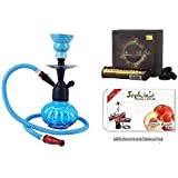 JaipurCrafts Premium Combo of 12 Inch Glass, Iron Hookah, 10 Hookah Charcoal Disk and Premium Hookah Flavour(100% Nicotine and Tobacco Free)