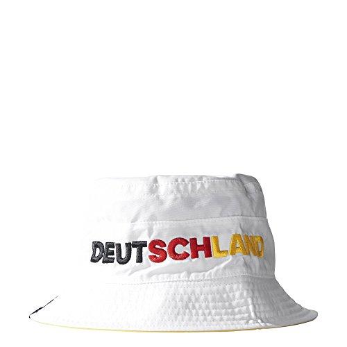 adidas Erwachsene Wannenhut CF Reversible Buck Deutschland, White/Power Red, OSFM