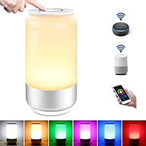 LE Lampada da Comodino Touch Intelligente WiFi, Compatibile con Alexa e Google Home, Luce Notturna 16 Milioni RGB e… 7 spesavip