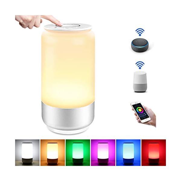 LE Lampada da Comodino Touch Intelligente WiFi, Compatibile con Alexa e Google Home, Luce Notturna 16 Milioni RGB e… 1 spesavip