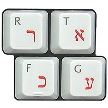 HQRP Arabic QWERTY Keyboard Stickers on Transparent Background for All PC MAC Desktops /& Laptops with Red Lettering