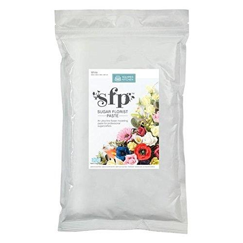 Sugar Florist Paste Modelliermasse für Blumen, weiß, 1 kg
