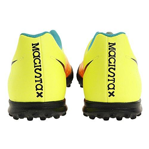 Nike Magistax Ola Ii Tf, Chaussures de Football Homme Amarillo (Volt / Black-Total Orange-Clear Jade)