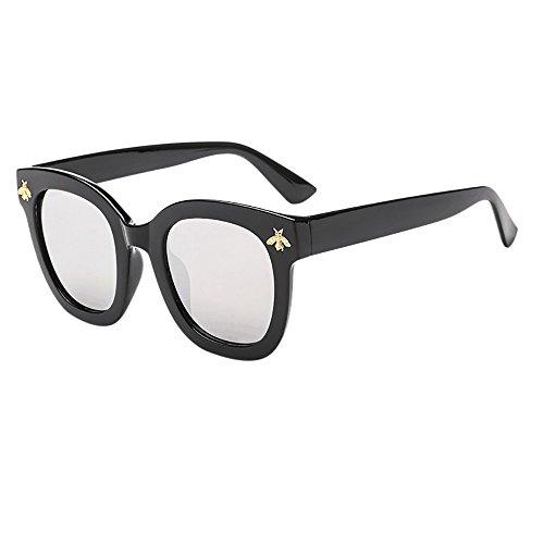 URIBAKY Unisex Nerd Sonnenbrille Retro Vintage Style Stil Design,Weinlese-Bienen -Brille - Farben/Modelle wählbar