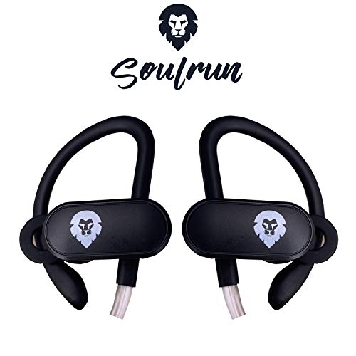 Encore Soul Run - Auriculares Bluetooth Luminosos - Chips Qualcomm - 10h de Sonido estéreo y Impermeable - Sport & Fitness - Casco Audio Neckband sin Cable Compatible Apple, Android