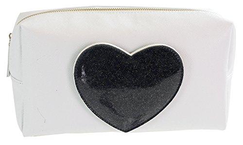 Camomille milano-necessaire L Heart Black C/miroir