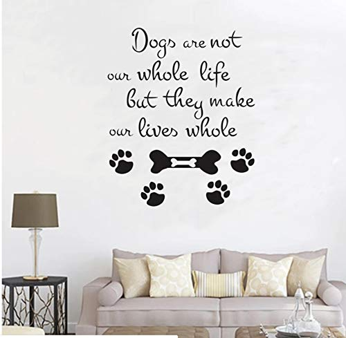 Hunde Sind Nicht Unser Ganzes Leben Zitat Wandaufkleber Hundepflege Salon Shop Dog Tags Wandbilder Lustige Wohnkultur 58Cm X 70Cm -