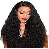 Density Lace Front Wigs Human Hair Loose Curly Wave for Black Women, Premium Brazilian Virgin Hair Lace Frontal Wigs Pre Pluc