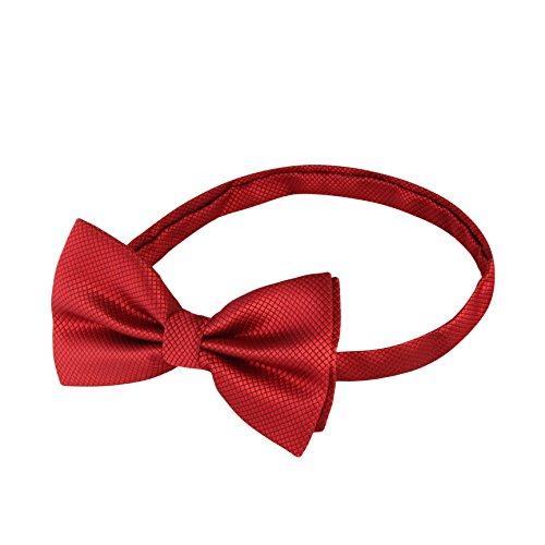 Rot Herren • Gebunden und Verstellbar • Fliegen für Männer mit Gummiband • Schleife in 15 Farben Matt und Glänzend • Krawatte zum Anzug Smoking Hemd (70er Jahre Kleidung Männer)
