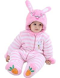 LPATTERN Mono de Franela Invierno para Bebés Unisex Mameluco con Capucha  Disfraz de Animales Frutas 0fd45da36eed