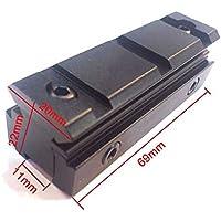WorldShopping4U Rifle táctico 10 mm / 11 mm a 20 mm Alcance Adaptador de base de montaje Weaver Picatinny Rail
