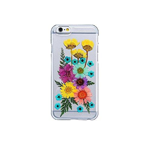 Schutzhülle für iPhone 6/6S, einzigartiges Design, gepresste Blumen, Handy-Schutzhülle, 11,9 cm (4,7 Zoll), Farbe 12 Color 03