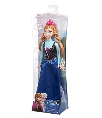 Disney El reino del hielo Chicas Disney Frozen Sparkle Princess Anna Doll - Azul