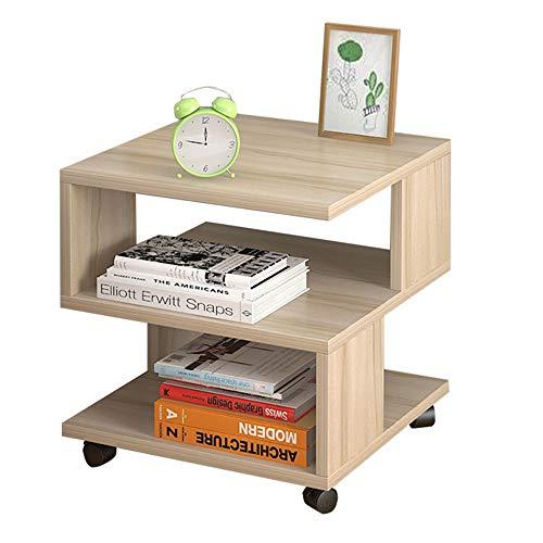"""Folding table NAN Holzrollen können kleine Bücherregale bewegen, Schließfach mit DREI Schlafzimmern, Nachttischmontage - 15,7\""""15,7\"""" 17,7\""""Zoll (Farbe : A)"""