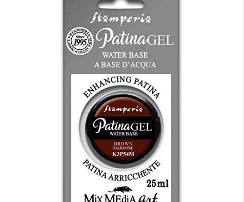 Patina-Gel - Brown 25 ml, Stamperia, Spezielle Farben, Hobby, Farben, Decoupage