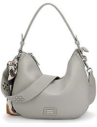 e53faff7db David Jones - Women s Zipper Cross Body Bag - Smooth Faux Leather Ladies  Saddle Bags - Shoulder Purse Wallet Messenger Handbag - With…