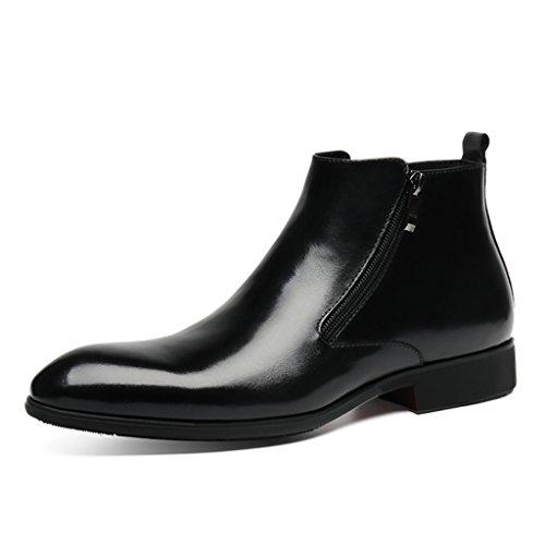 Scarpe Uomo in Pelle Scarpe da uomo in pelle Scarpe alte Scarpe da lavoro stile inglese a punta inglese ( Colore : Nero , dimensioni : EU42/UK7.5 ) Nero