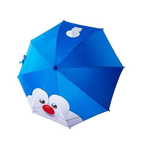 ZTMN Taschenschirme Sonnenschirm Doraemon Automatisches Öffnen und Schließen Druck Cartoon Sonnenschutz Anti-Ultraviolet Ray