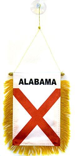 Wimpel ALABAMA 15x10cm - BUNDESSTAAT ALABAMA Mini Flagge 10 x 15 cm - Auto Pennant spezielle Auto AZ FLAG (Flag Alabama)