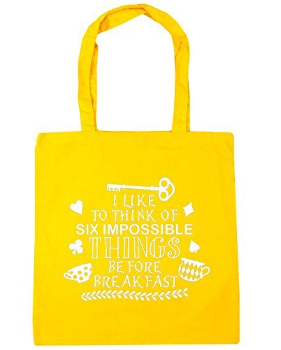 hippowarehouse-i-like-to-think-of-six-impossible-things-before-breakfast-tote-shopping-gym-beach-bag