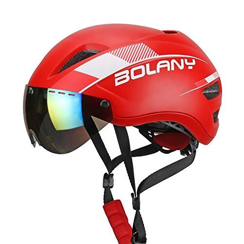 YLFC Fahrradhelm, Abnehmbarer Schutzbrille Visor Shield für Männer Frauen Mountain Road Fahrradhelm Einstellbarer Sicherheitsschutz Skateboarding Ski Snowboard