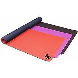 Yogi-bare - estera de Yoga Doble capa ecológica TPE con agujeros transpirable - antideslizante - estudio profesional de yoga mat